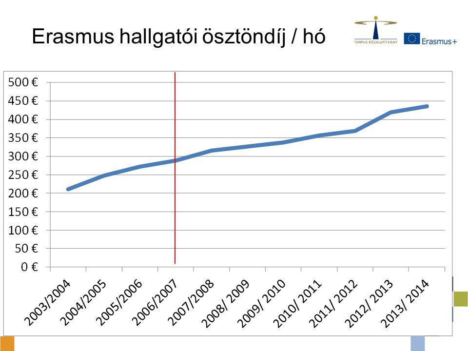 Erasmus hallgatói ösztöndíj / hó