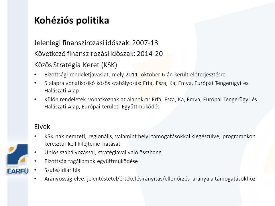 Kohéziós politika Költségvetés: az Európai Tanács 2013.