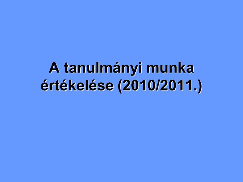 A tanulmányi munka értékelése (2010/2011.)