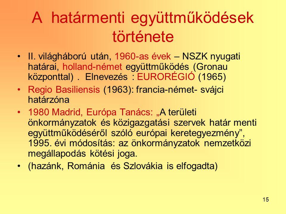 15 A határmenti együttműködések története II.
