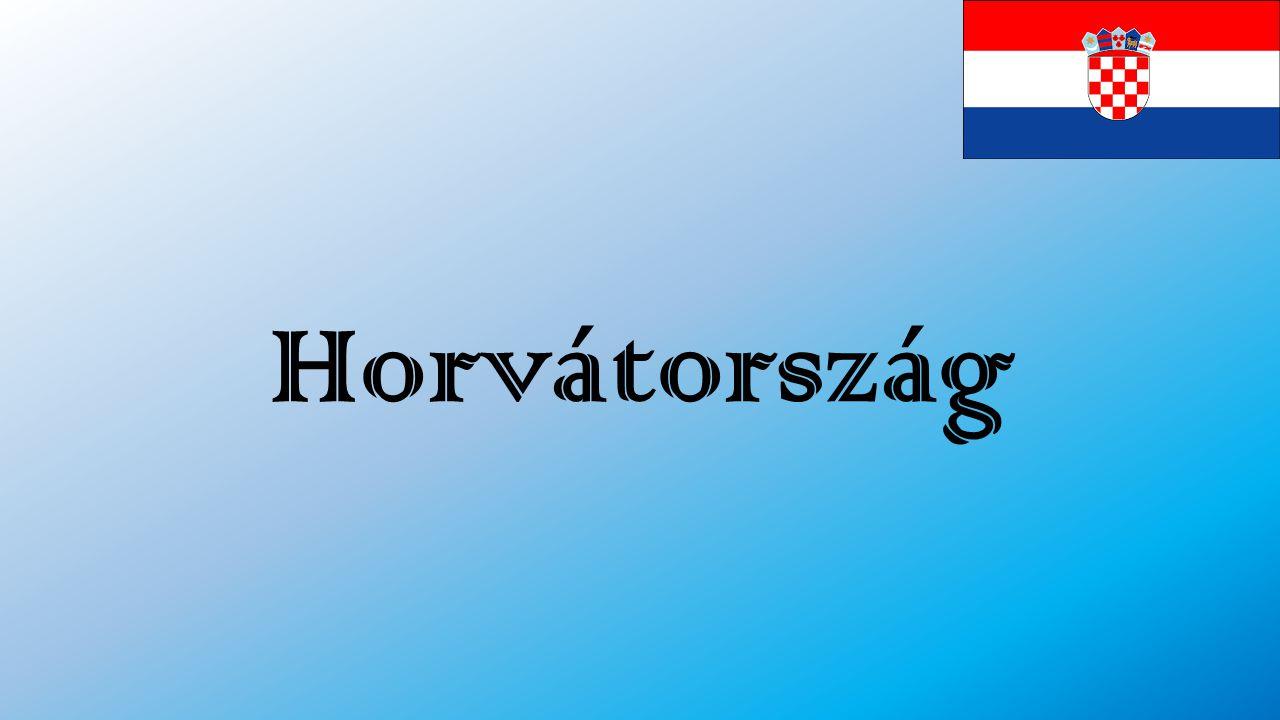 A Balkán félsziget Ény-i részén fekszik Határai: ÉNy-on Szlovénia É-on Magyarország K-en Szerbia, Bosznia-Hercegovina DK-en Montenegró DNy-on Adriai tenger Éghajlata: mérsékelt kontinentális Fővárosa: Zágráb 1991-ben kiáltotta ki függetlenségét