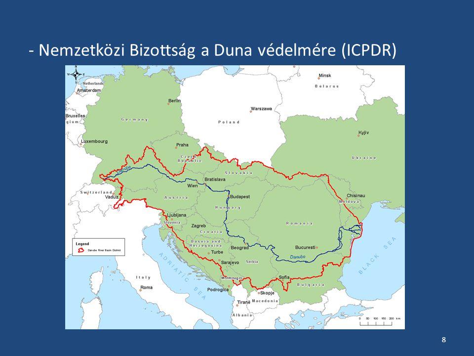 - Nemzetközi Bizottság a Duna védelmére (ICPDR) 8