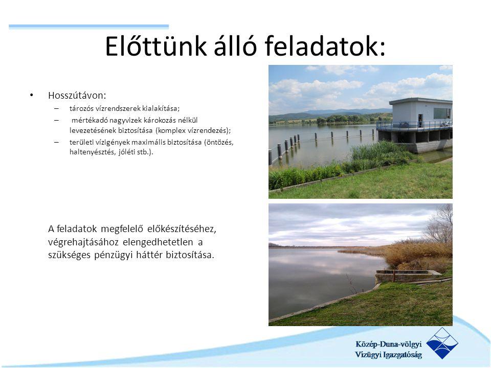 Előttünk álló feladatok: Hosszútávon: – tározós vízrendszerek kialakítása; – mértékadó nagyvizek károkozás nélkül levezetésének biztosítása (komplex v
