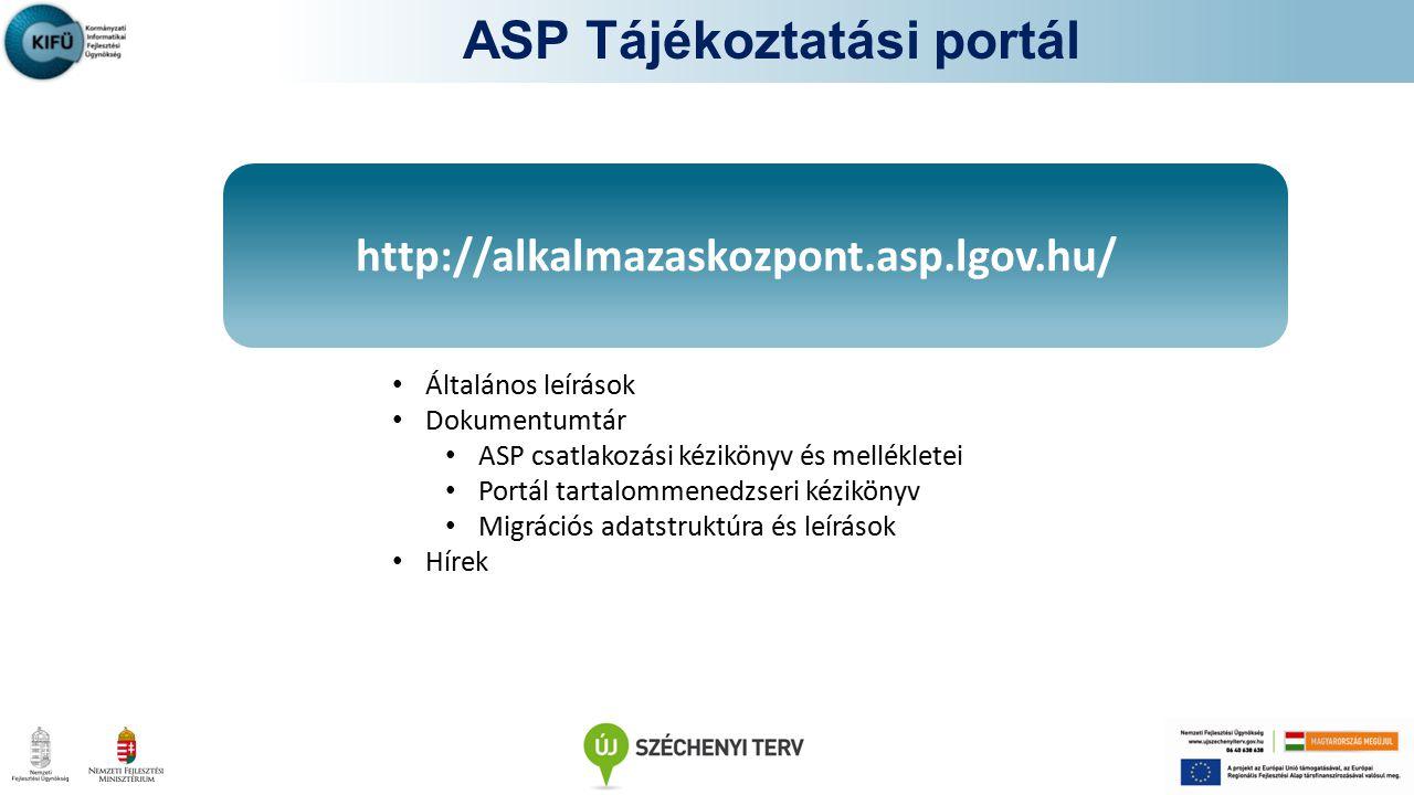A Csatlakozási Szerződések aláírását követően lehetősége lesz: -Az ASP rendszer önkormányzati felhasználóinak felvételére -Elérni az e-learning funkciókat: -Elektronikus tananyagok/felhasználói kézikönyvek elérése -E-learning tananyagok elérése -Záró tesztek (Az oktatások résztvevőinek záró tesztet szükséges tenni) E-learning