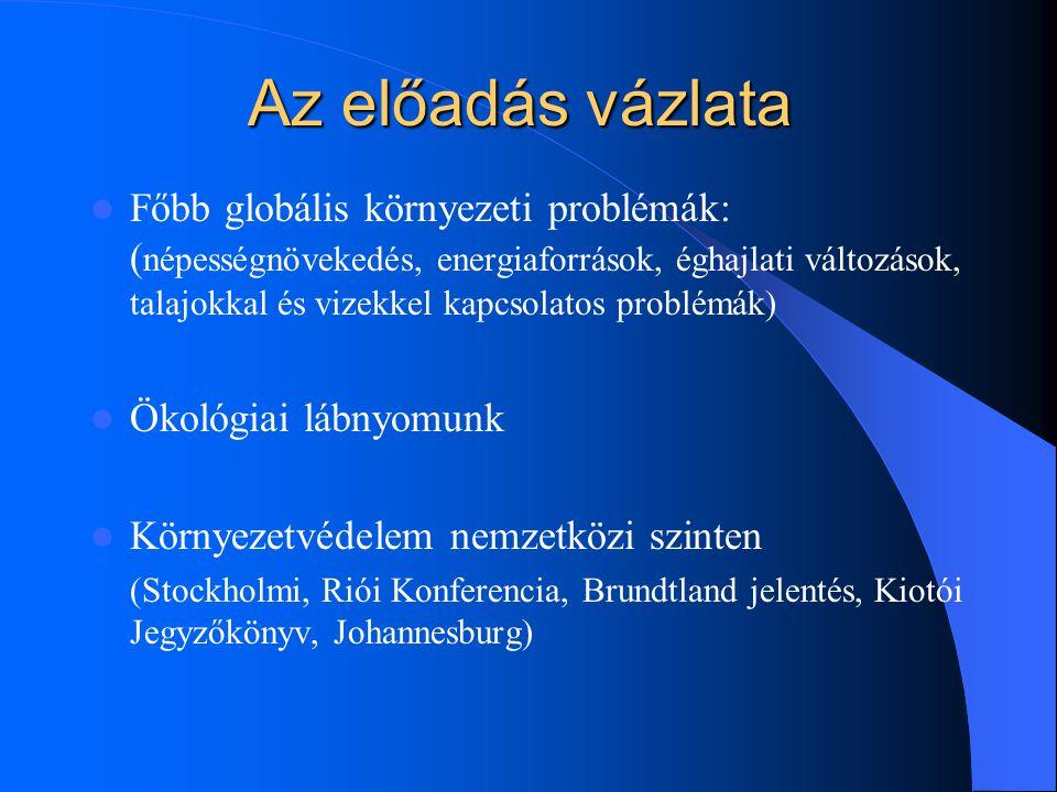"""1984.Környezet és Fejlődés Világbizottság (Brundtland, Közös Jövőnk) """"fenntartható fejlődés 1990."""