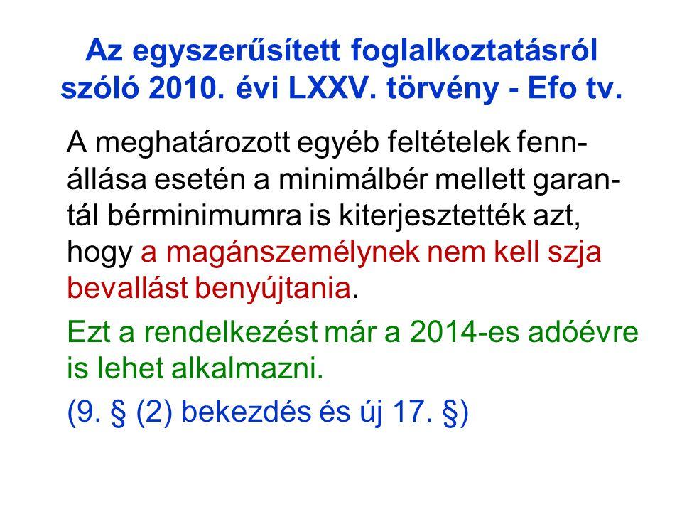 Az egyszerűsített foglalkoztatásról szóló 2010.évi LXXV.