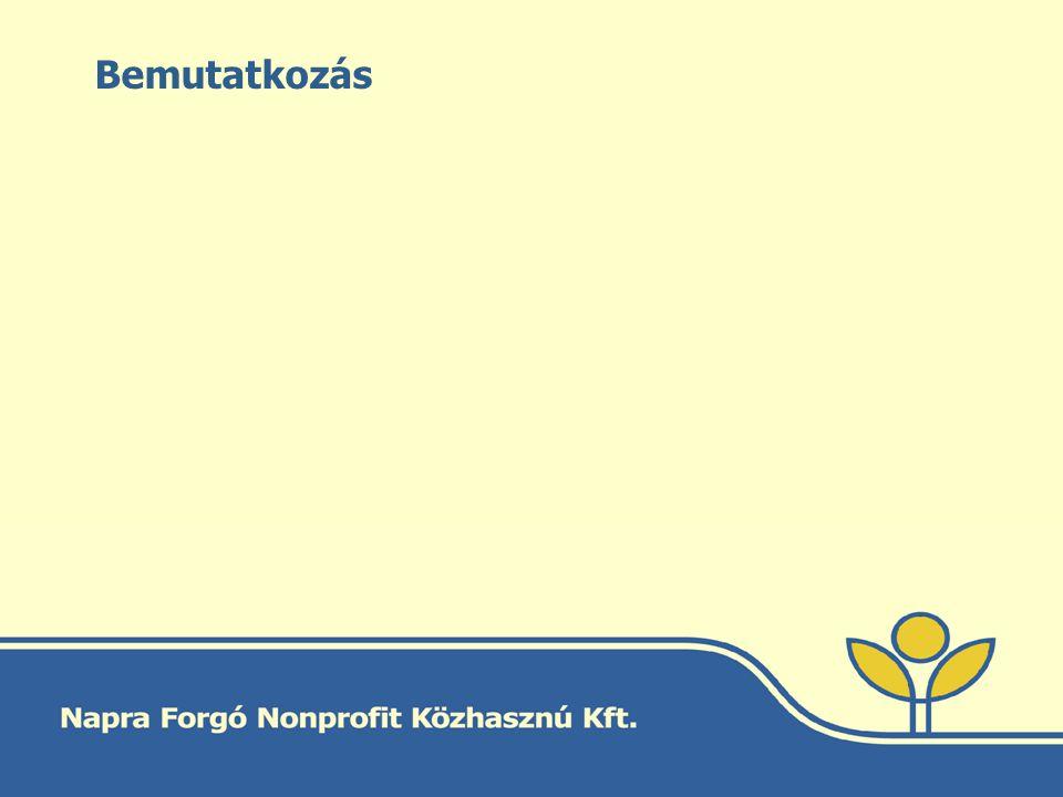 Napra Forgó Nonprofit Közhasznú Kft.Alapítva: 2000.