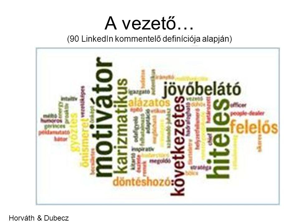 A vezető… (90 LinkedIn kommentelő definíciója alapján) Horváth & Dubecz