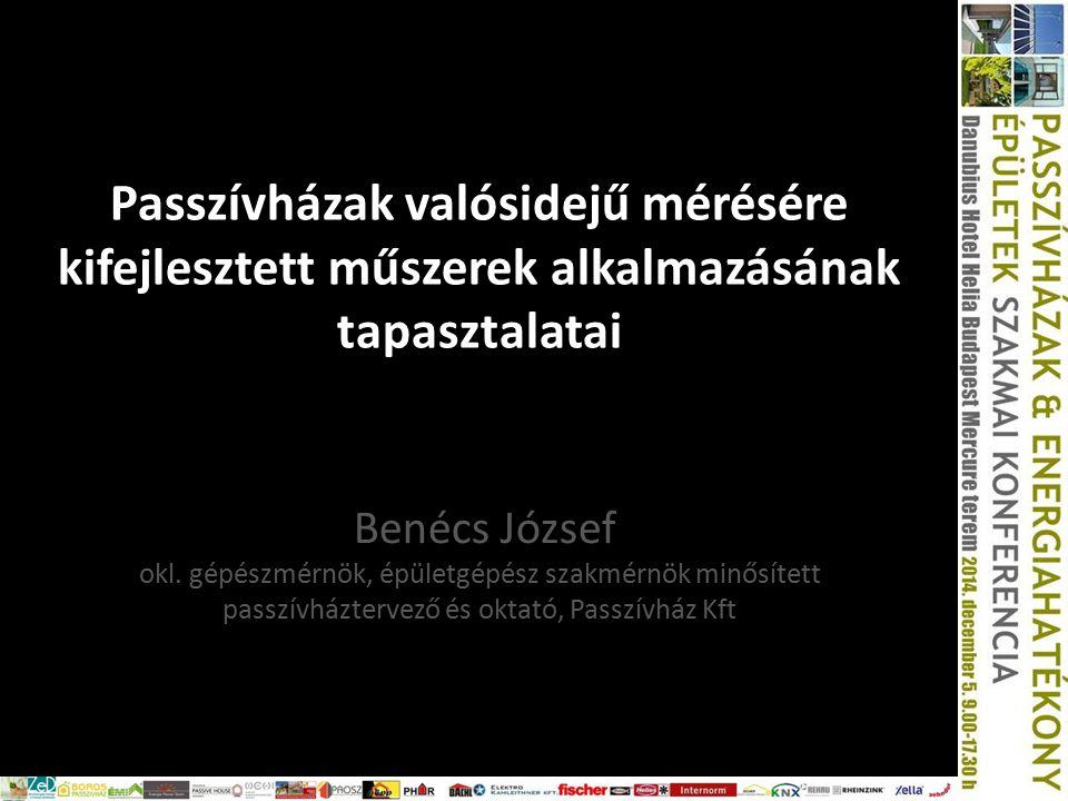 Passzívházak valósidejű mérésére kifejlesztett műszerek alkalmazásának tapasztalatai Benécs József okl.
