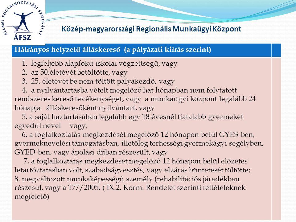 Közép-magyarországi Regionális Munkaügyi Központ 177/2005.