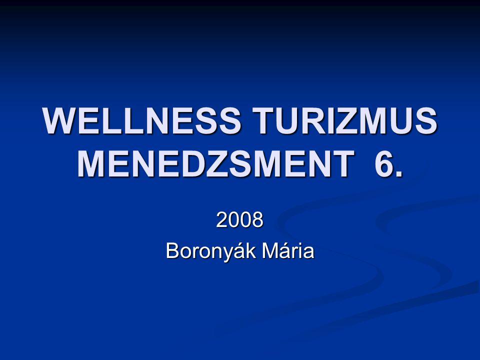 WELLNESS TURIZMUS MENEDZSMENT 6. 2008 Boronyák Mária