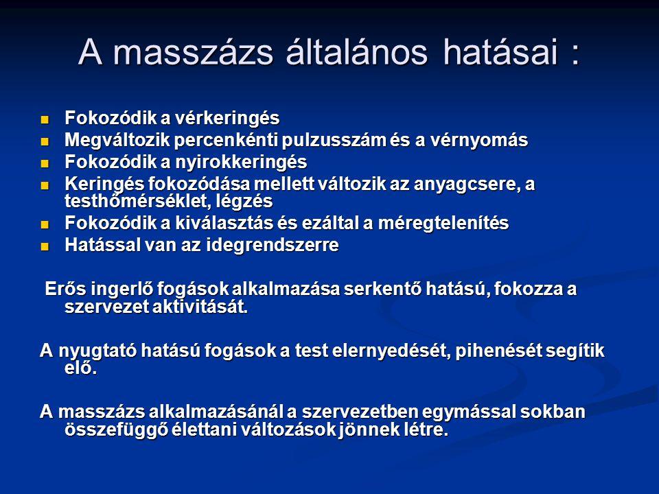 A masszázs kontraindikációi: akut gyulladásos betegségek, pl.