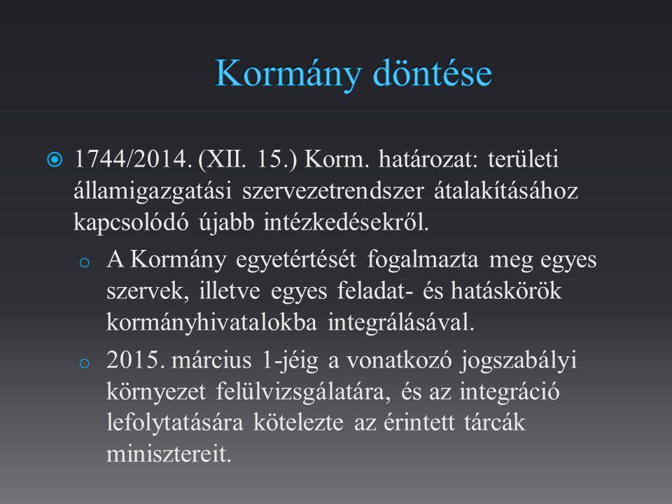  2015.évi VI. törvény az egyes közigazgatási tárgyú törvények módosításáról.