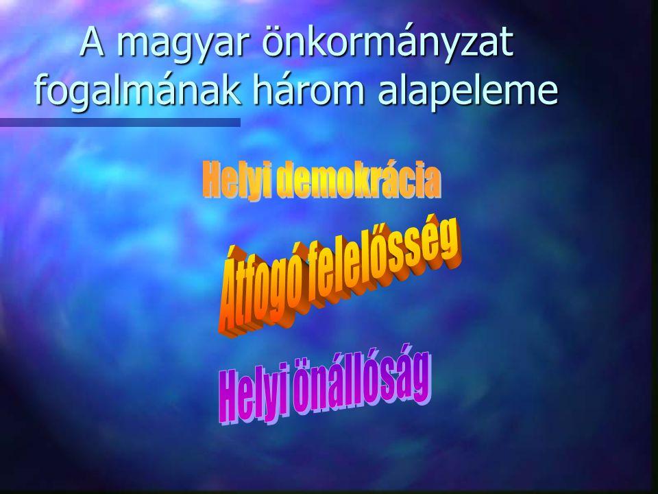 A magyar önkormányzat fogalmának három alapeleme