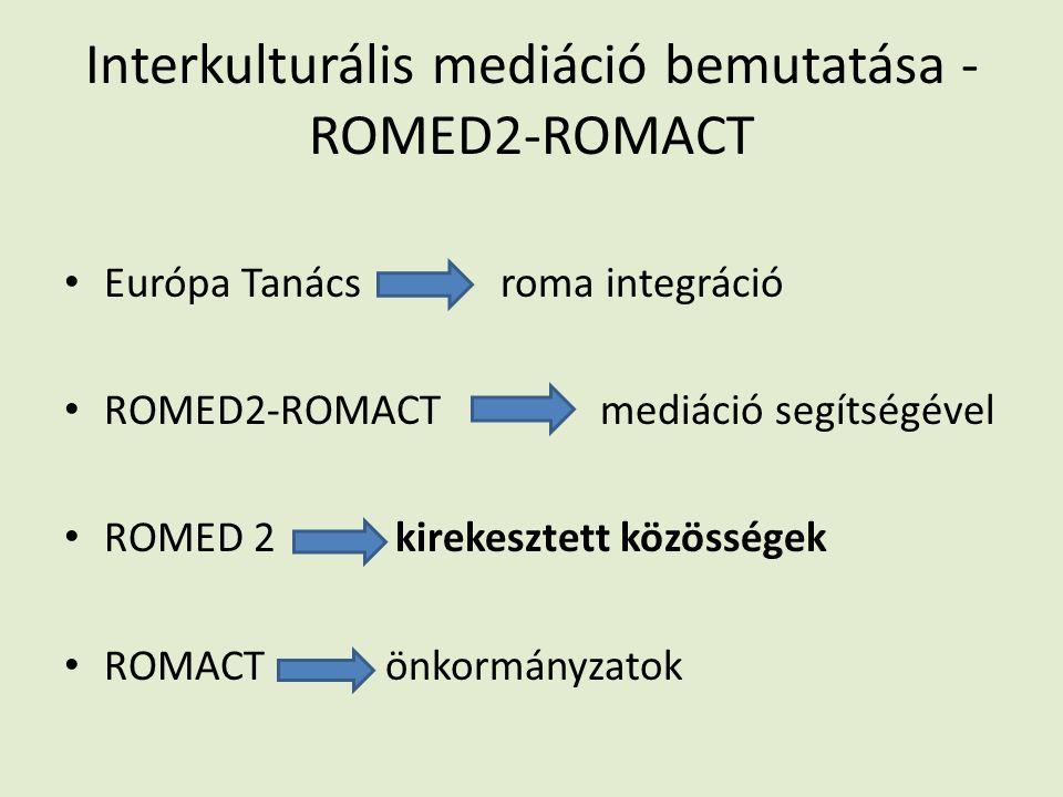 Interkulturális mediáció bemutatása - ROMED2-ROMACT Európa Tanács roma integráció ROMED2-ROMACT mediáció segítségével ROMED 2 kirekesztett közösségek ROMACT önkormányzatok