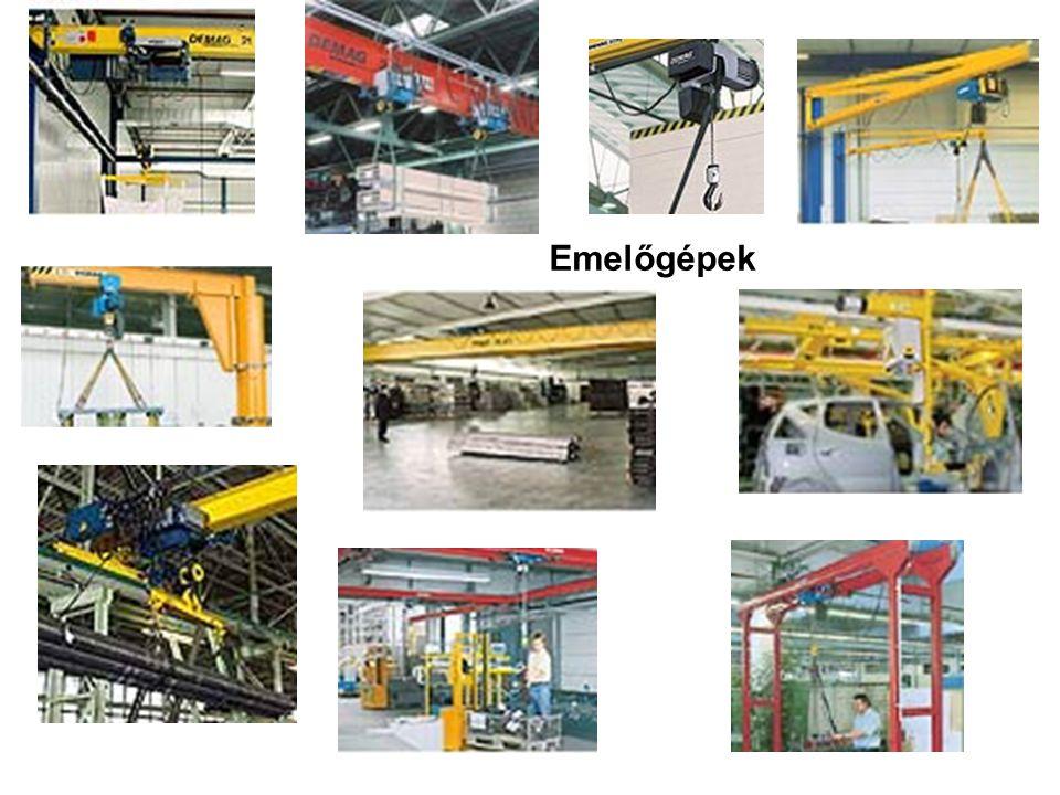 Emelőgépek csoportosítási szempontjai mozgási viszonyaik, hajtásuk, alkalmazott tehermegfogó eszközök szerint.
