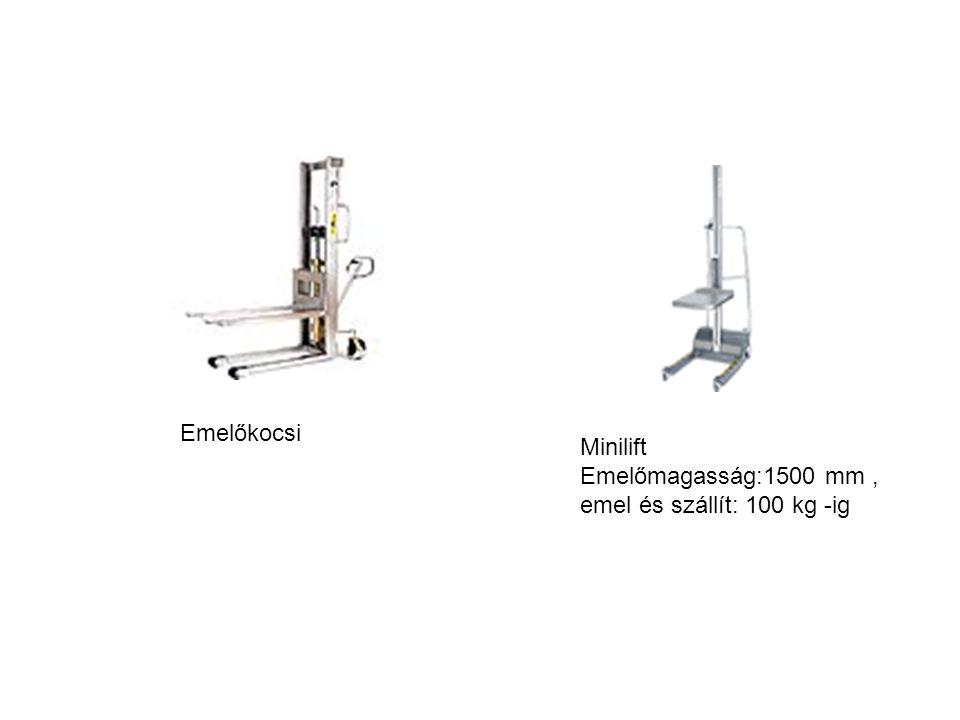 Emelőkocsi Minilift Emelőmagasság:1500 mm, emel és szállít: 100 kg -ig
