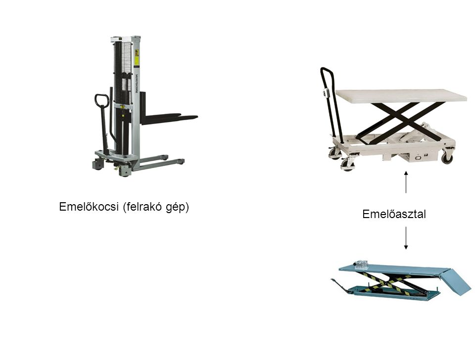 Emelőkocsi (felrakó gép) Emelőasztal