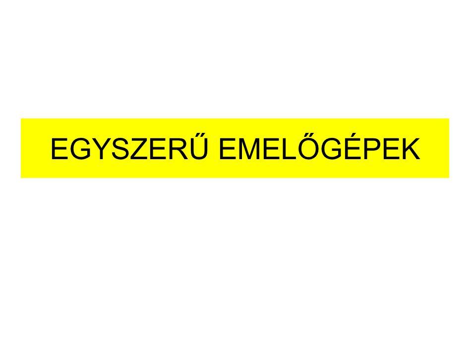 A daruk helyváltoztatási lehetőségei szerinti csoportosítása Helyhez kötött daruk Önemelő daruk (pl.