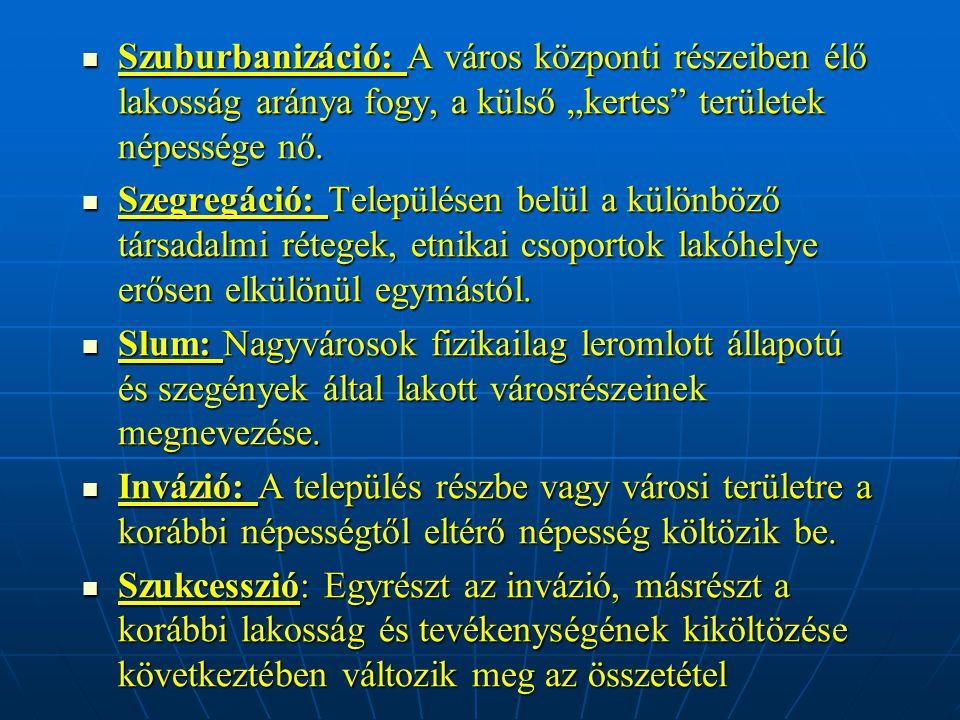 Városökológiai elméletek - Humánökológiai v.városökológiai elmélet - Humánökológiai v.