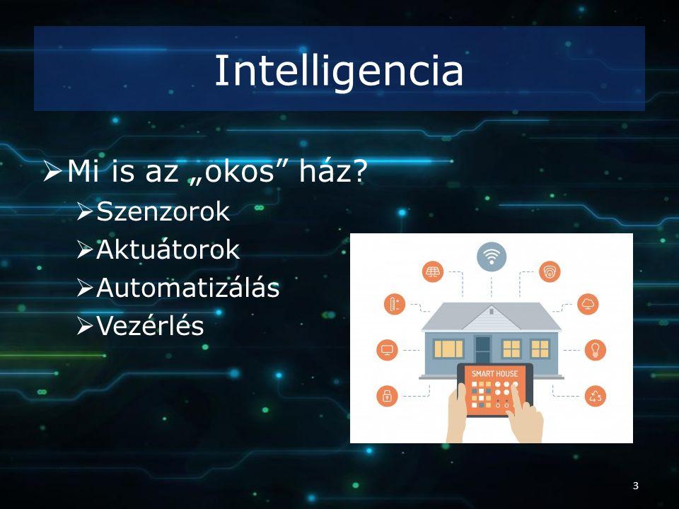 """Intelligencia  Mi is az """"okos ház?  Szenzorok  Aktuátorok  Automatizálás  Vezérlés 3"""
