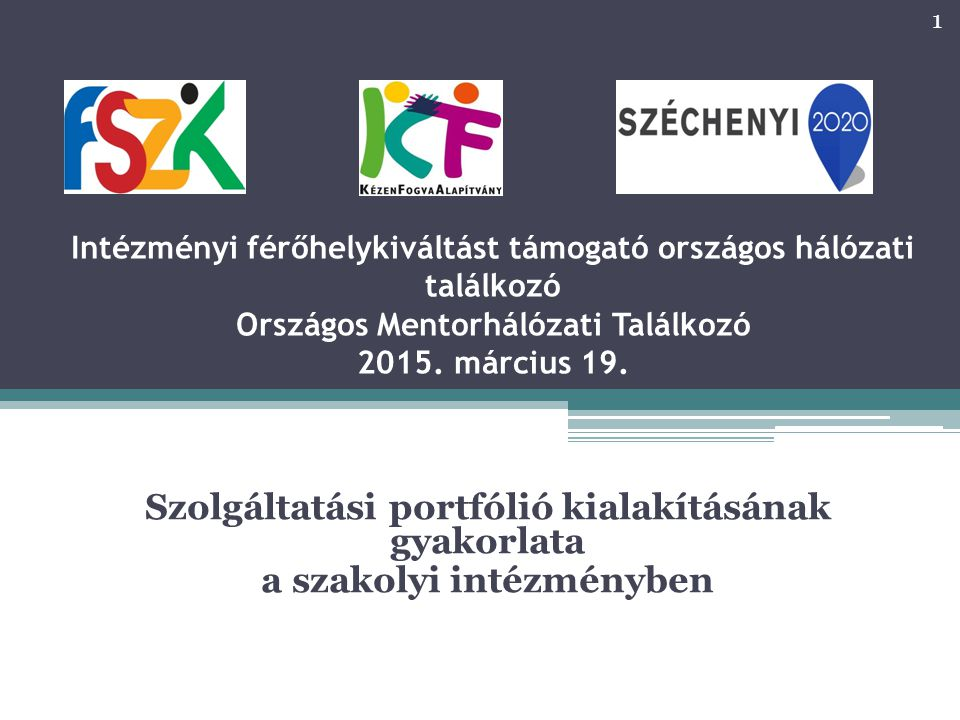 Szolgáltatási portfólió: Kontextus, cél Általános törekvés a szociális szektorra vonatkozóan: Szükséglet alapú tervezés Szolgáltatás alapú szervezés Tevékenység alapú finanszírozás A TL-ra vonatkozó szabályozások ebben a szellemben készülnek A kiváltásban résztvevő intézmények szolgáltató szervezetekké alakulnak Távlat….
