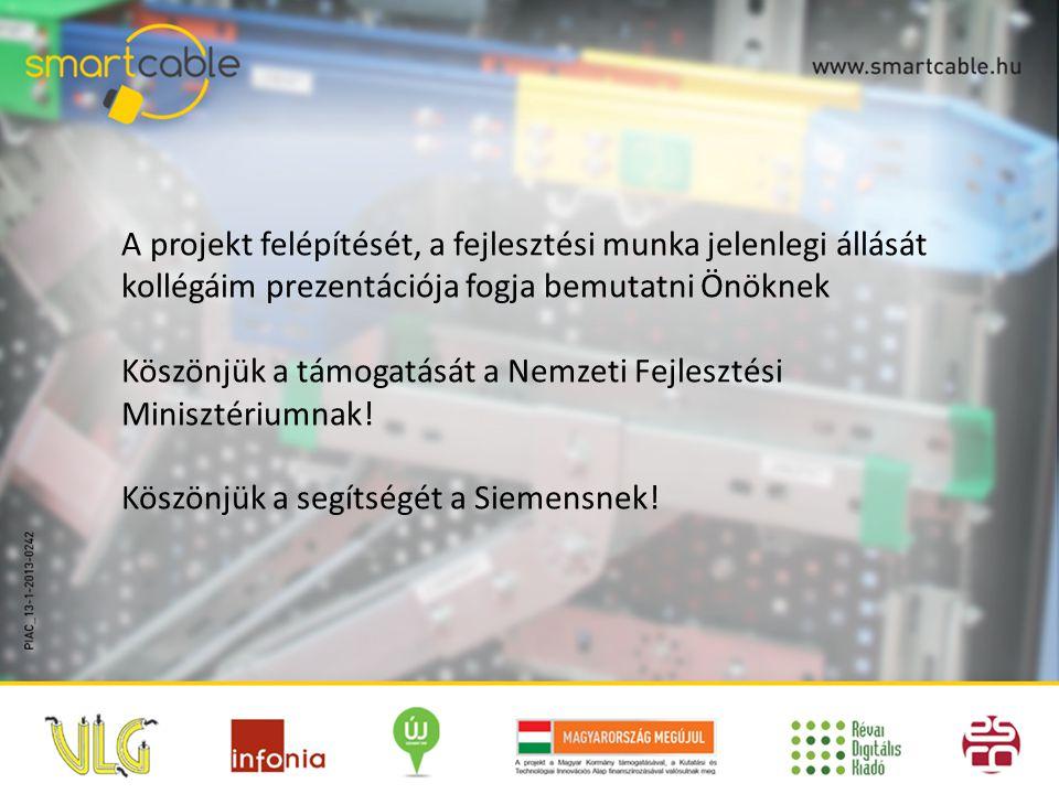 A projekt felépítését, a fejlesztési munka jelenlegi állását kollégáim prezentációja fogja bemutatni Önöknek Köszönjük a támogatását a Nemzeti Fejlesz