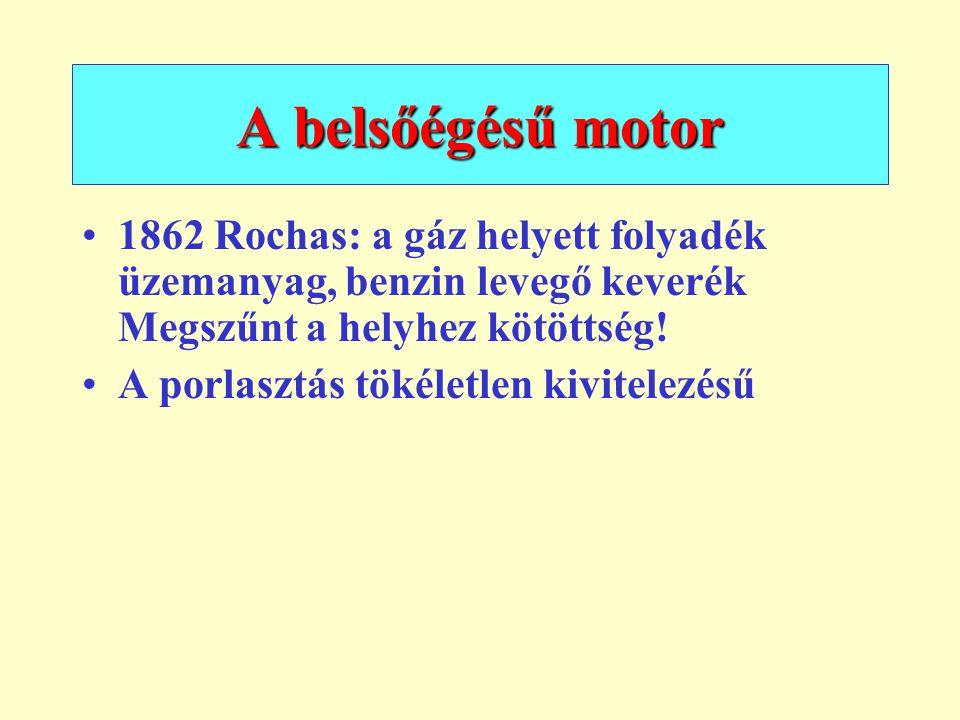 1873: Reitmann gázmotor Belsőégésű motor szerkezeti felépítése 1.