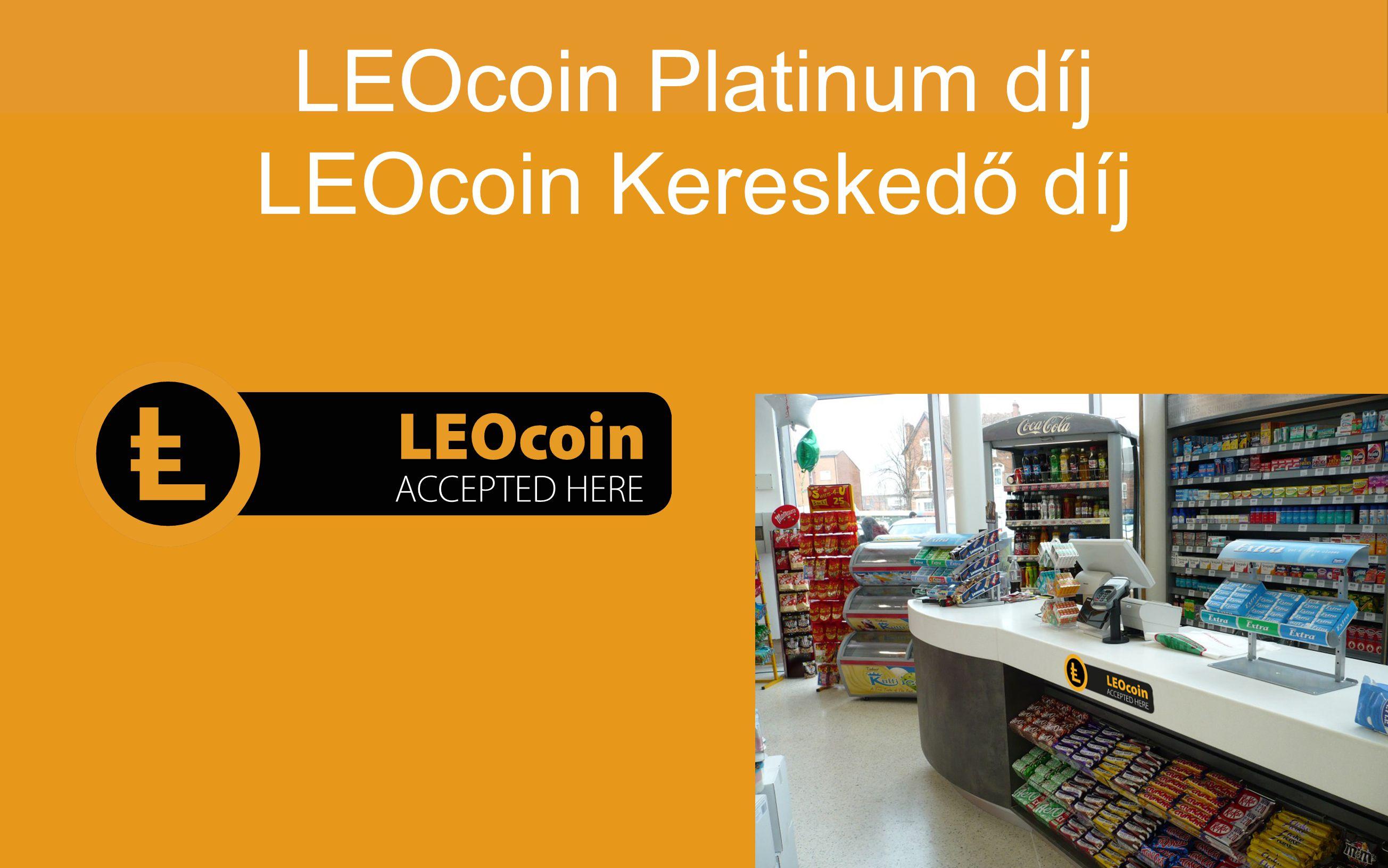 LEOcoin Platinum díj LEOcoin Kereskedő díj