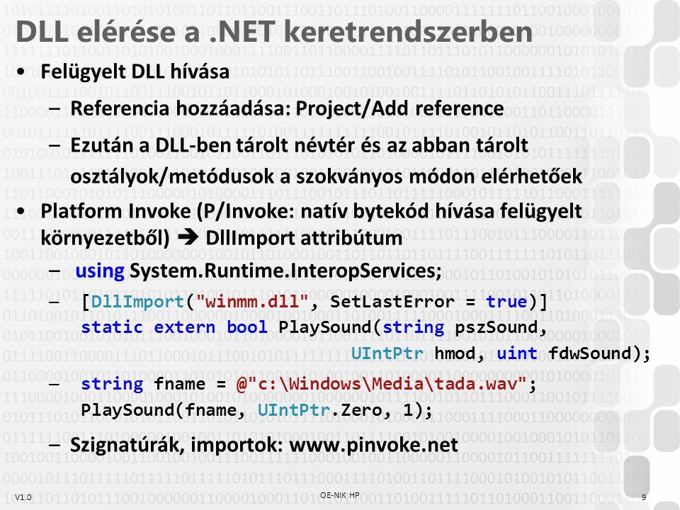 Haladó Programozás DLL használata és készítése Feladat