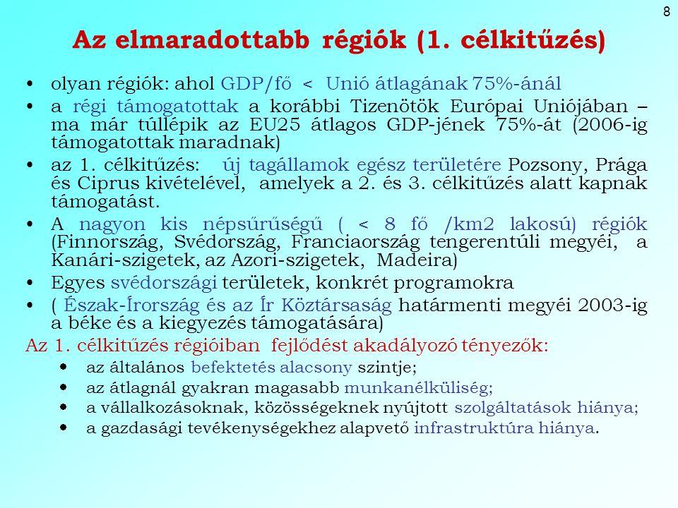 8 Az elmaradottabb régiók (1.