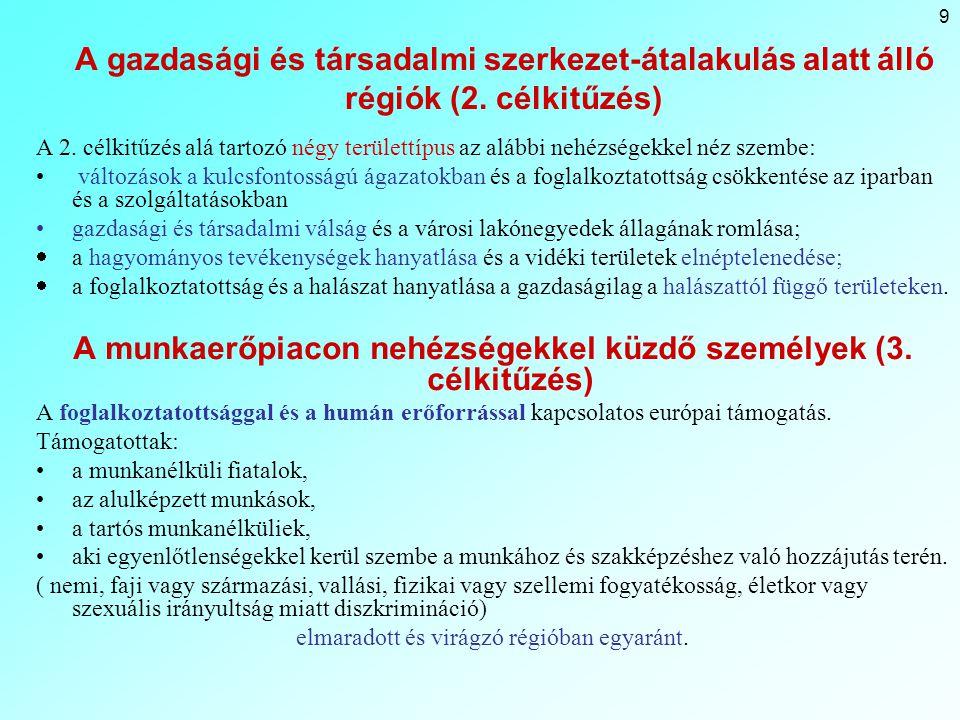9 A gazdasági és társadalmi szerkezet-átalakulás alatt álló régiók (2.