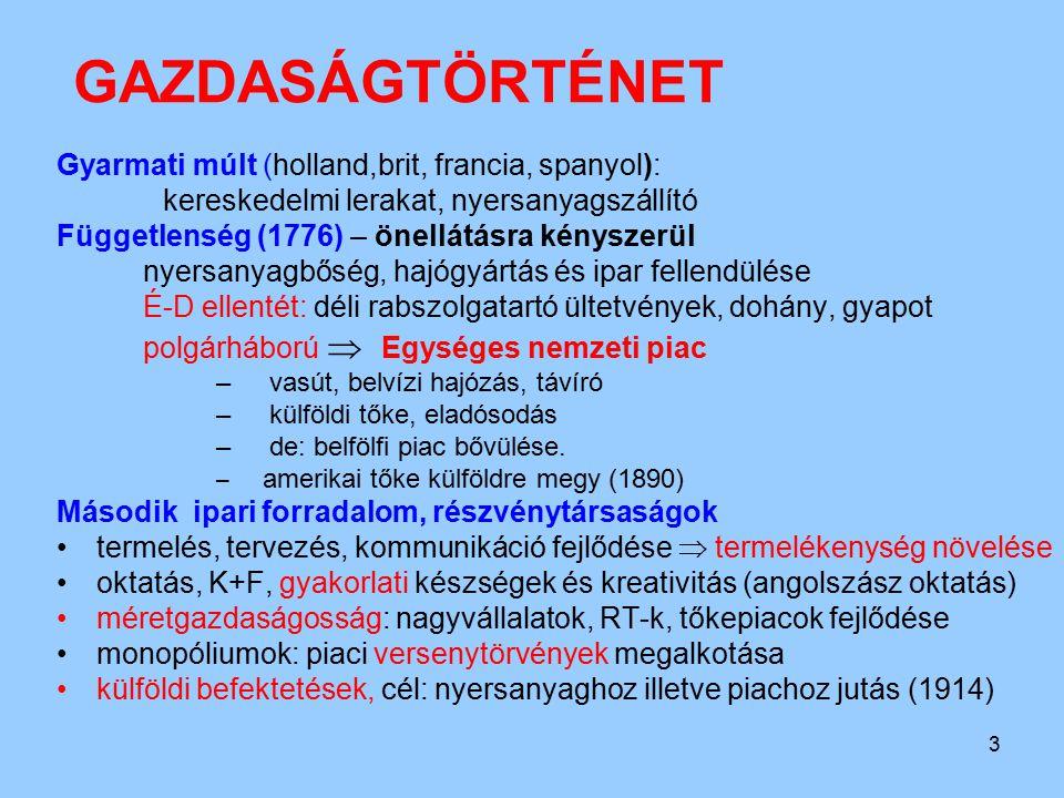 4 GAZDASÁGTÖRTÉNET/2 I.vh.