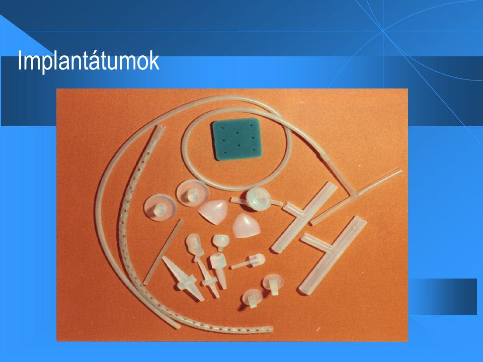Orvosi alkalmazási területek  1.) Kemény (hard) implantátumok.