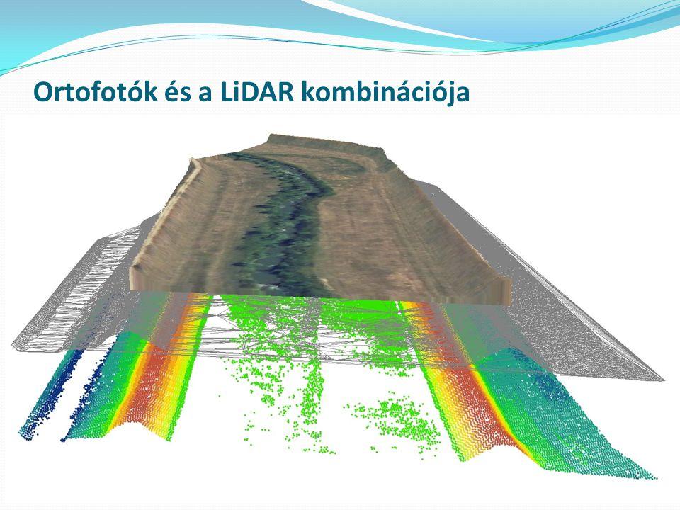 Ortofotók és a LiDAR kombinációja