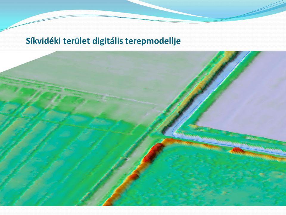 Síkvidéki terület digitális terepmodellje