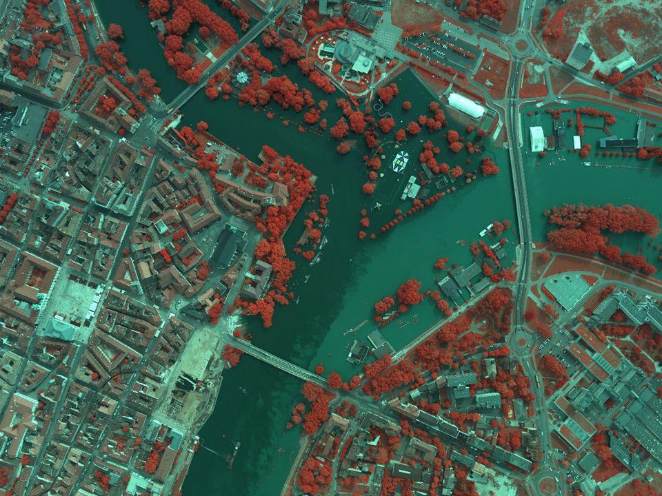 A LIDAR és a hiperspektrális adatok integrálása Forrás: KRF