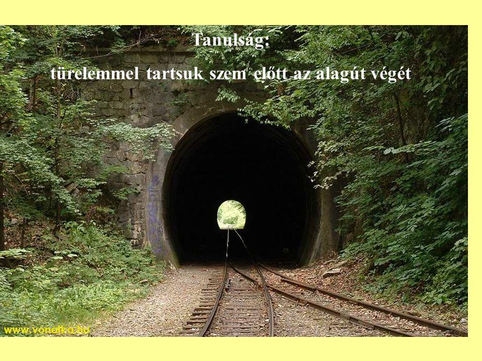 Tanulság: türelemmel tartsuk szem előtt az alagút végét
