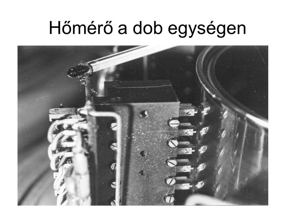Hőmérő a dob egységen