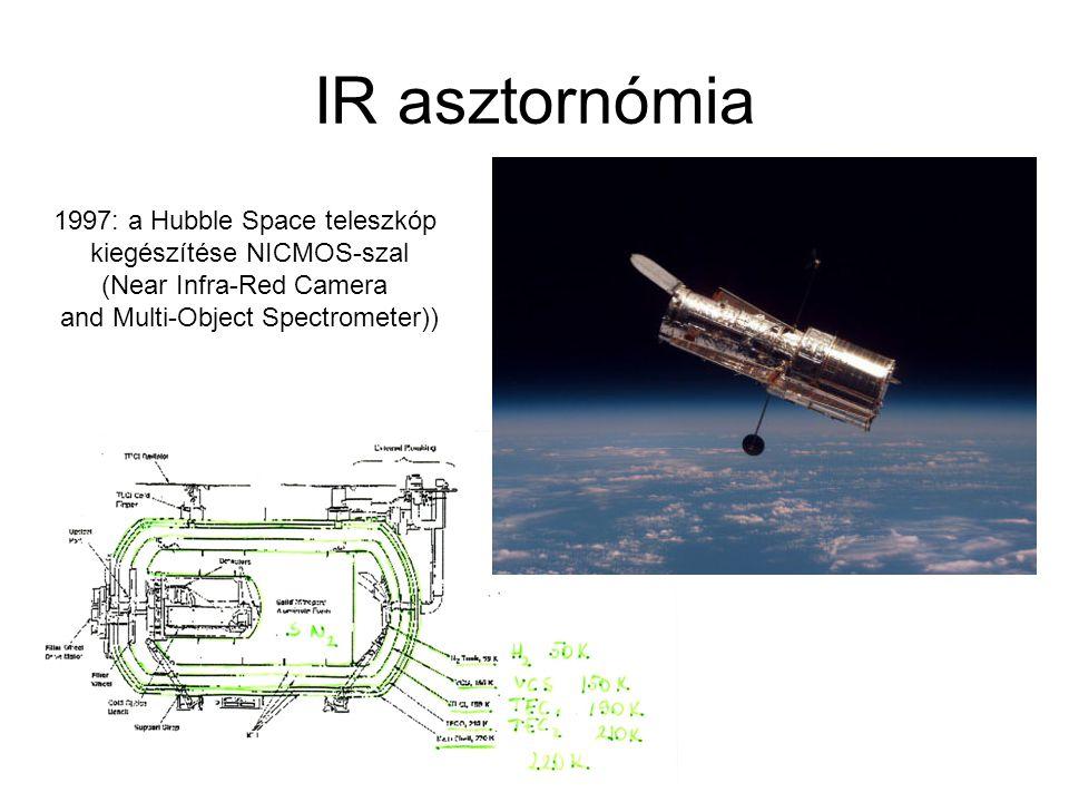 IR asztornómia 1997: a Hubble Space teleszkóp kiegészítése NICMOS-szal (Near Infra-Red Camera and Multi-Object Spectrometer))
