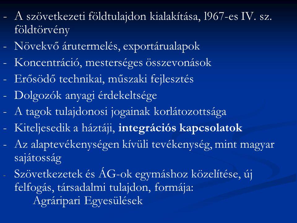 -A -A szövetkezeti földtulajdon kialakítása, l967-es IV.