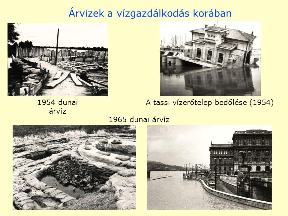 Árvizek a vízgazdálkodás korában A tassi vízerőtelep bedőlése (1954) 1965 dunai árvíz 1954 dunai árvíz