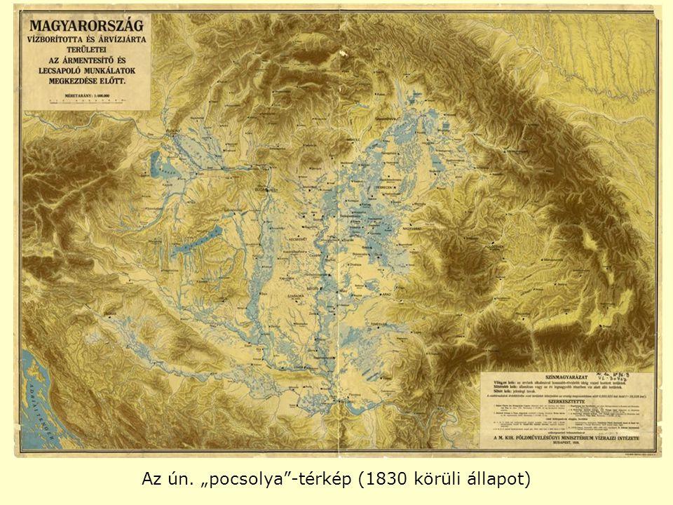 """Az ún. """"pocsolya""""-térkép (1830 körüli állapot)"""
