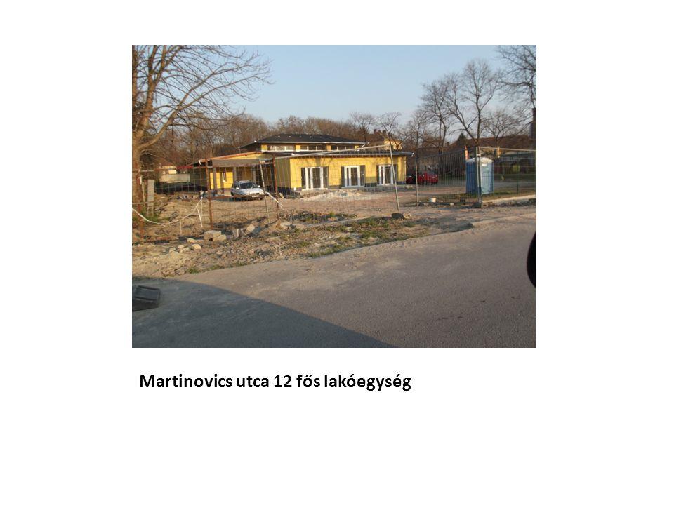 Martinovics utca 12 fős lakóegység