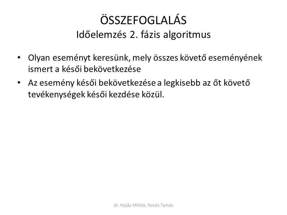 ÖSSZEFOGLALÁS Időelemzés 2.