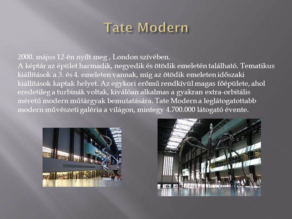 2000. május 12-én nyílt meg, London szívében. A képtár az épület harmadik, negyedik és ötödik emeletén található. Tematikus kiállítások a 3. és 4. eme