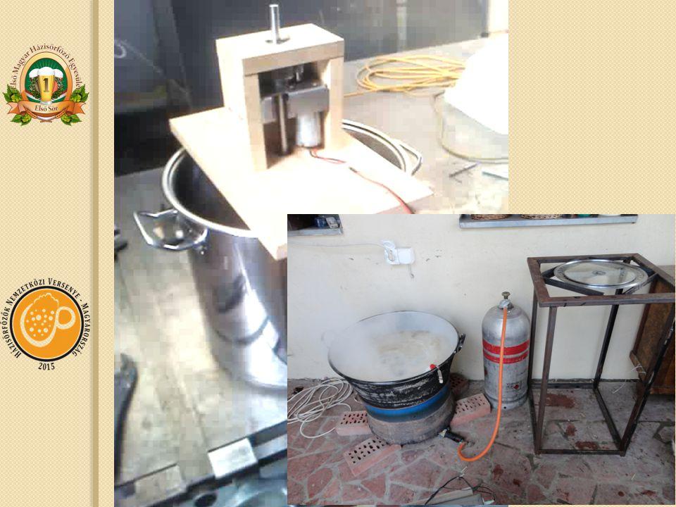 Barkácsolási ötletek Csapot a lábosra Keverőt a lábos fölé Konyhából kiköltözés Fűtés Hőmérés Vezérlés