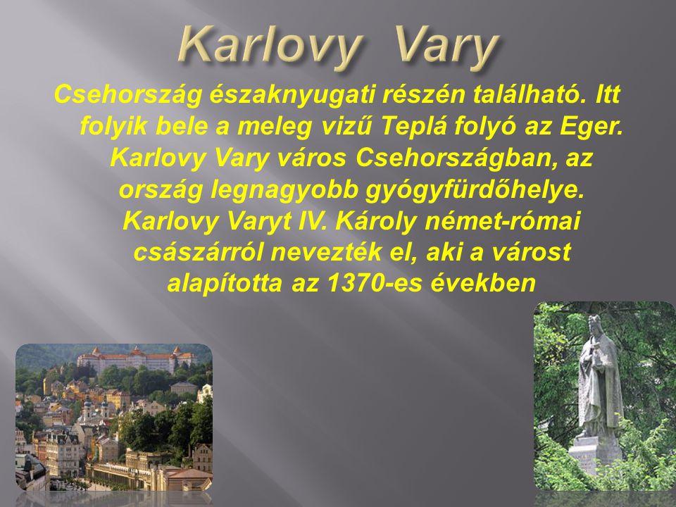 Csehország északnyugati részén található. Itt folyik bele a meleg vizű Teplá folyó az Eger. Karlovy Vary város Csehországban, az ország legnagyobb gyó
