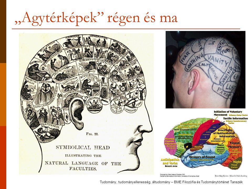 """""""Agytérképek régen és ma Tudomány, tudományellenesség, áltudomány – BME Filozófia és Tudománytörténet Tanszék"""