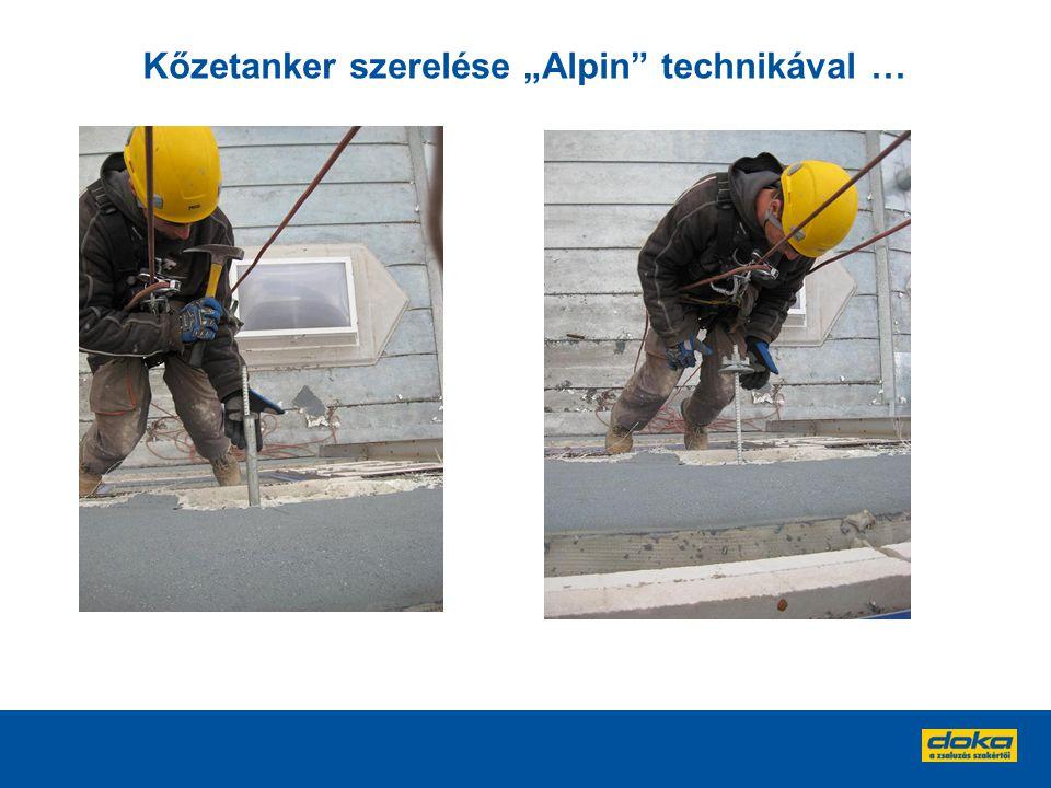 """Kőzetanker szerelése """"Alpin"""" technikával …"""